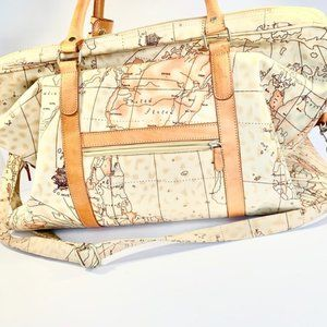 FRED'S INT'L Wanderlust Map Duffle Bag